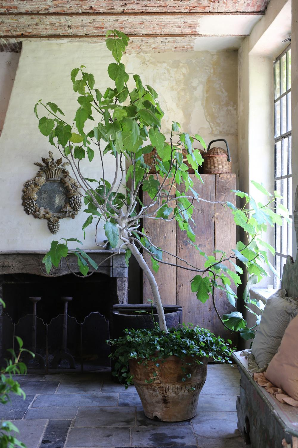 Old World design style with rustic refinery at The Little Monastery, a wonderful B&B near Bruges. Come enjoy photos and a tour of Belgian Design Style Inspiration from antiques dealers Alain and Brigitte Garnier.